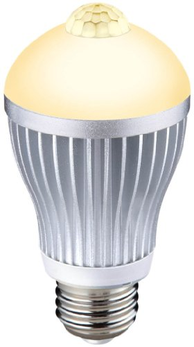 ムサシ RITEX 人センサー付 LED電球 40型 【電球色】 E26口金 S-LED40L