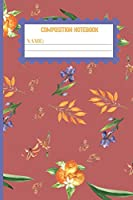 Composition Notebook: Orange gifts for women,men,kids,and teens: cute & elegant Fuzzy Wuzzy Brown college ruled lined paper to write in