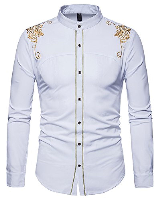 (ワトリズ)Whatlees メンズ 長袖シャツ きれいめ 形態安定 上質 カジュアル ボタンダウンシャツ