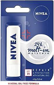 NIVEA Lip Balm, Repair & Protection with SPF15+,