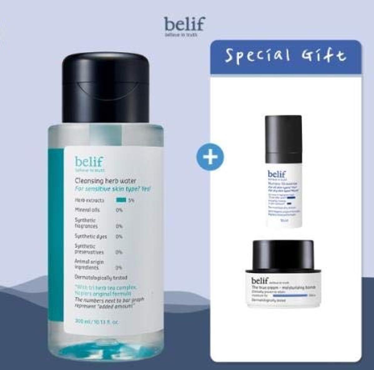 平行公旋律的belif Cleansing Herb Water 300ml (+Special Gifts) ビリープクレンジングハーブウォーター 300ml (+スペシャルギフト) [並行輸入品]