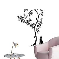 ウォールデカール 子猫 ポートレート ダーク 背景 チャーム クリーチャー イメージ シルバー ブラック 環境保護 ビニール 12 x 16inch(30x40cm)/1pc