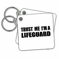 KC 195614InspirationzStore Trust meシリーズ–Trust Me Im Aライフガード–Fun Life Guardingユーモア–Funnyジョブギフト–キーチェーン set of 2