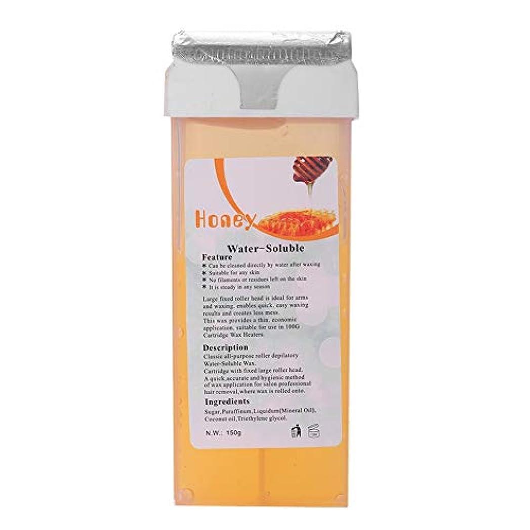 お金ゴム鎮静剤そっとローラーワックス、穏やかで効率的な脱毛ロール、腕、脚、性器、顔の脱毛に最適150g (黄ばん)