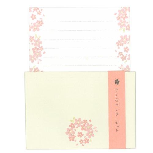 表現社 さくらのレターセット 美濃和紙便箋6枚・封筒3枚入 N...