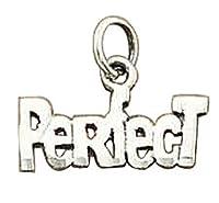 スターリングシルバー女性用1mmボックスチェーンPerfectメッセージペンダントネックレス シルバー