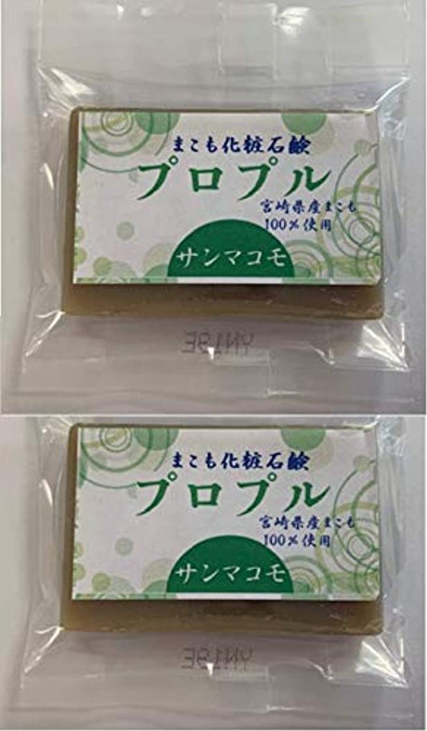 レイアウトデザイナー従者まこも化粧石鹸 プロプル 15g 2個セット