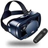 VR Headset 3D VR Glasses VR Goggles with Remote Controller -Compatible for Samsung Galaxy, Huawei, Google, Moto & All Android