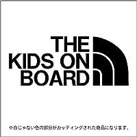 THE KIDS ON BOARD(キッズオンボード)ステッカー パロディ 子供を乗せています(12色から選べます) (黒)