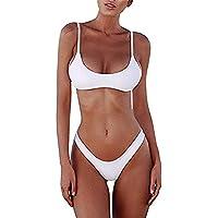 Tuizhentop Womens Brazilian Bikini Set Sexy 2 Piece Swimsuit Summer Cheeky Triangle Thong Swimwear