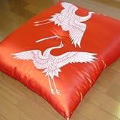 鶴寿座布団 赤 良質・国産品 敬老の日
