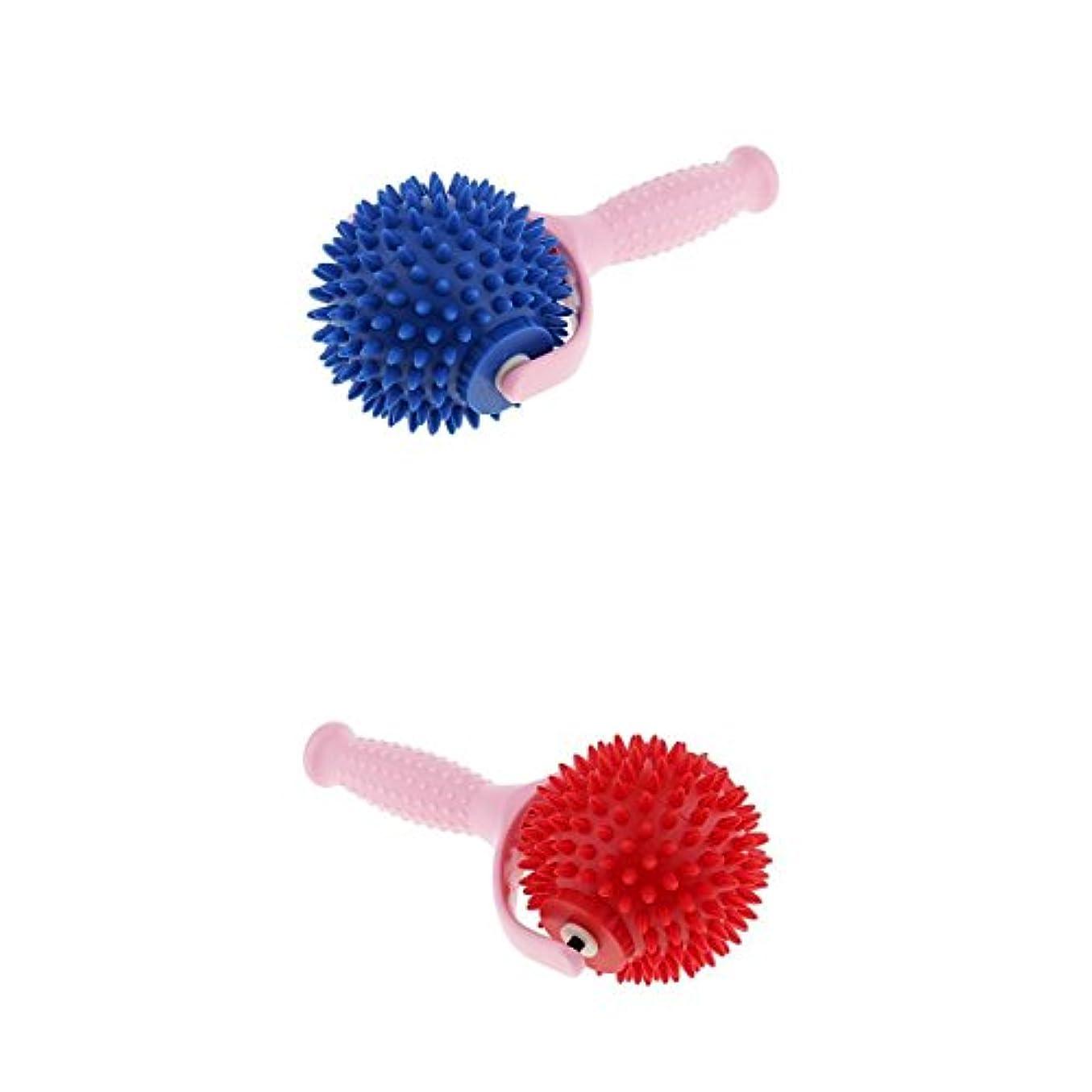 結核どこ店員Perfk マッサージボール 手持ち式 2個セット 筋膜リリース 伝統的 鍼療法 PVCプラスチック