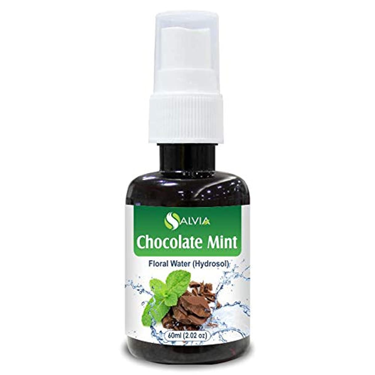 と遊ぶ鎖撃退するChocolate Mint Floral Water 60ml (Hydrosol) 100% Pure And Natural