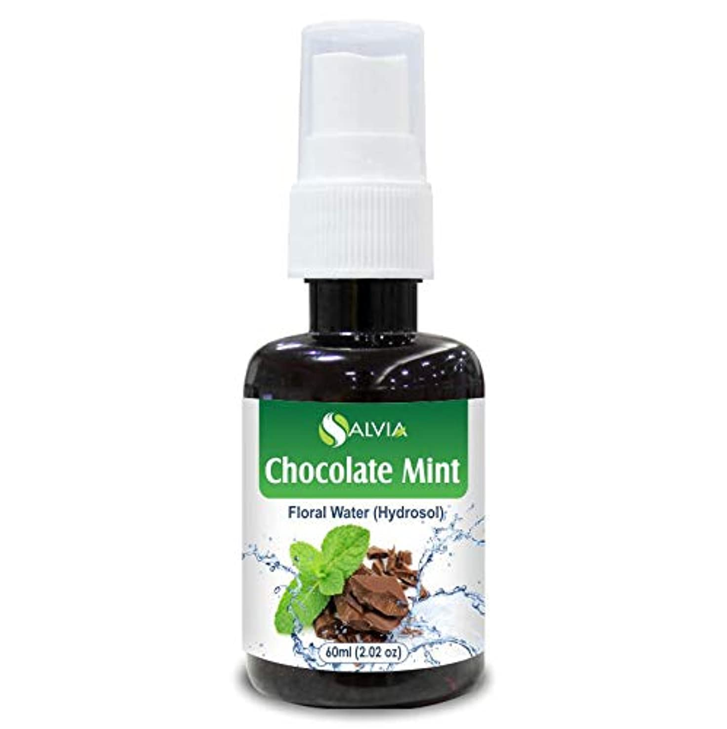 怖がらせる冷蔵する落胆したChocolate Mint Floral Water 60ml (Hydrosol) 100% Pure And Natural