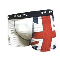 (エフディーエス)FDS イギリス国旗 ユニオンジャック/ホワイト F.D.S Men's ボクサーパンツ L
