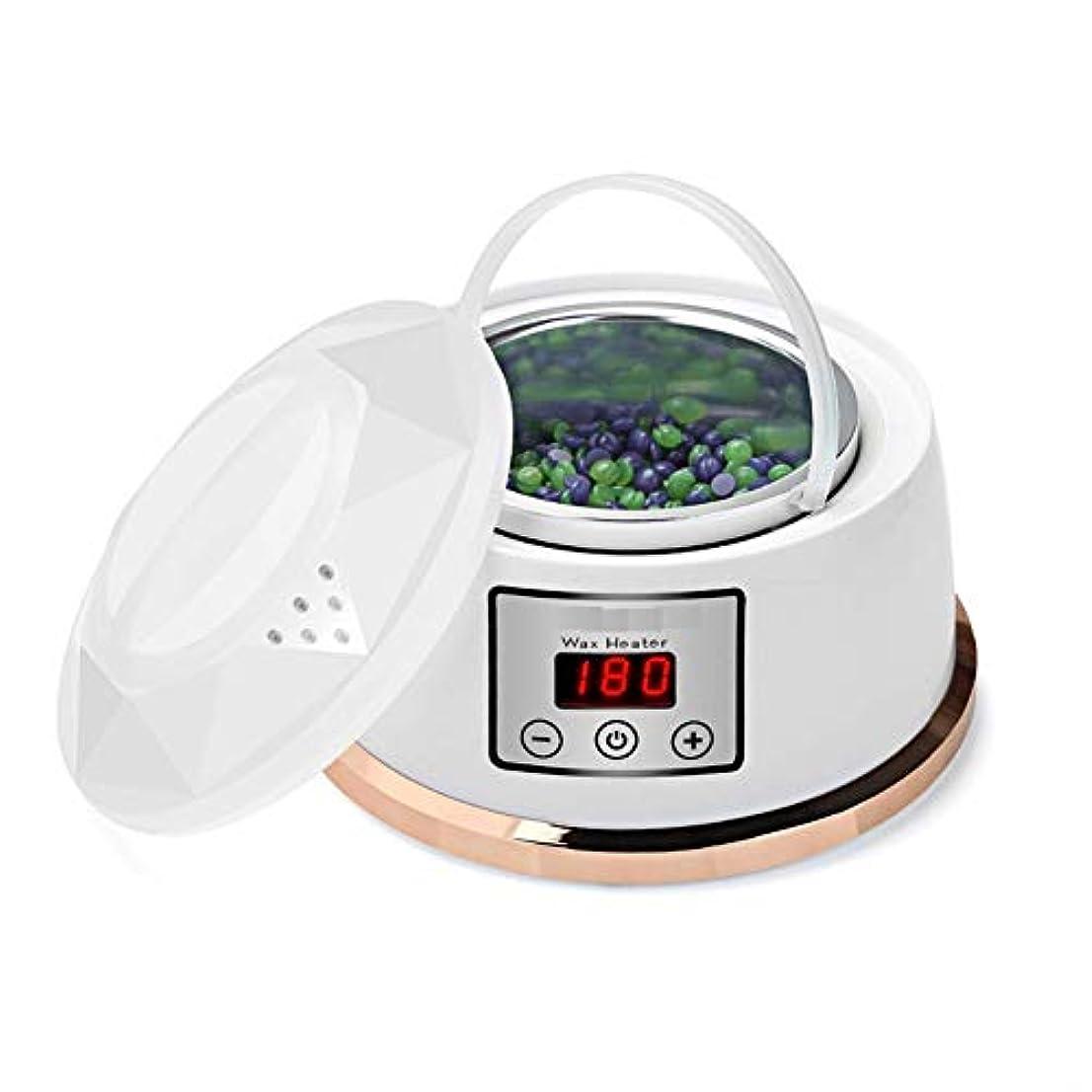 デジタルメディア思慮のないワックスウォーマー脱毛ワックスキット一定温度設定電気パラフィンワックスヒーターポット4風味ワックス豆