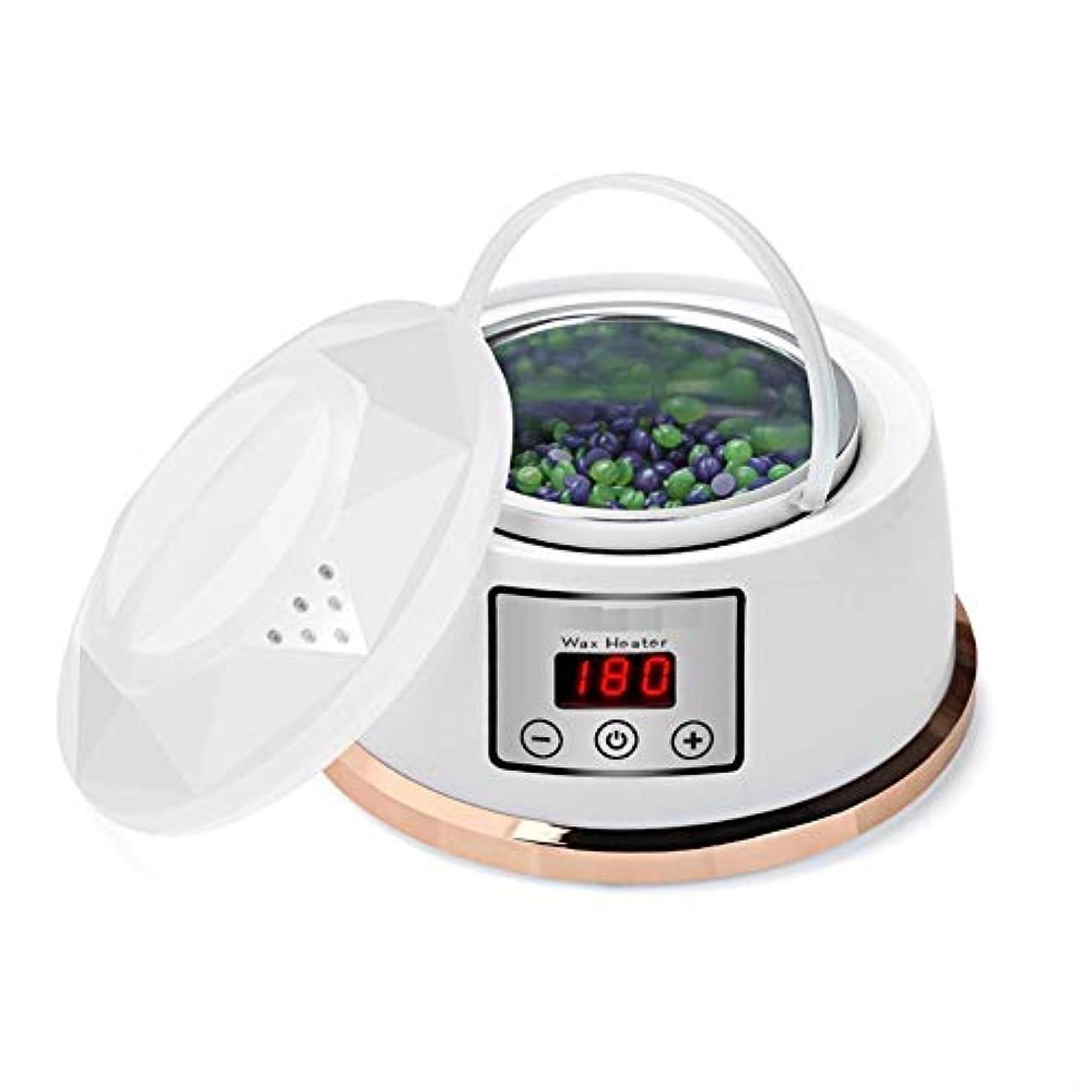 湿原奨励スリラーワックスウォーマー脱毛ワックスキット一定温度設定電気パラフィンワックスヒーターポット4風味ワックス豆