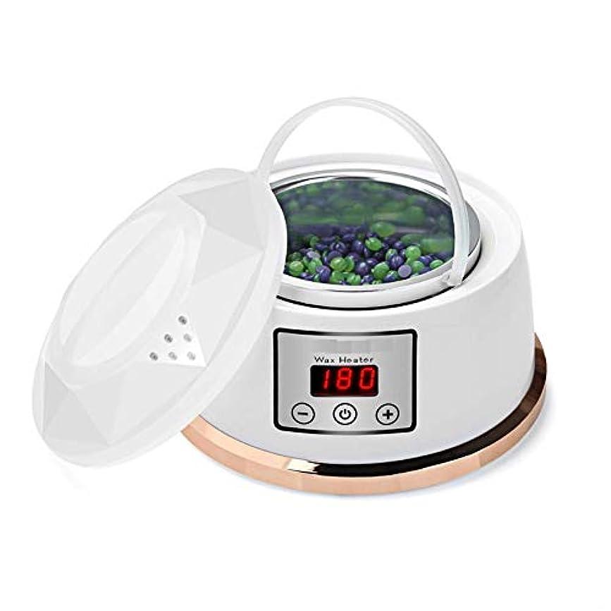 ワックスウォーマー脱毛ワックスキット一定温度設定電気パラフィンワックスヒーターポット4風味ワックス豆