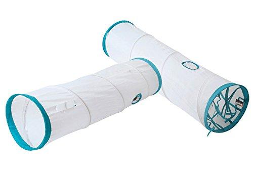 (エスライフ)S-Lifeeling 猫おもちゃ 猫トンネル 折りたたみ式 超長い折り畳みドーム型 面白い スパイラル式猫のトンネル 猫 ペット用品 通気性設計 トンネル