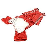 (グレート テイスト) Great taste レインコート ペット 大型犬 お散歩 雨対策 ペットウェア 雨の日 犬カッパ雨具 防水 着脱簡単 ペット服 繰り返し洗える 赤い 3XL