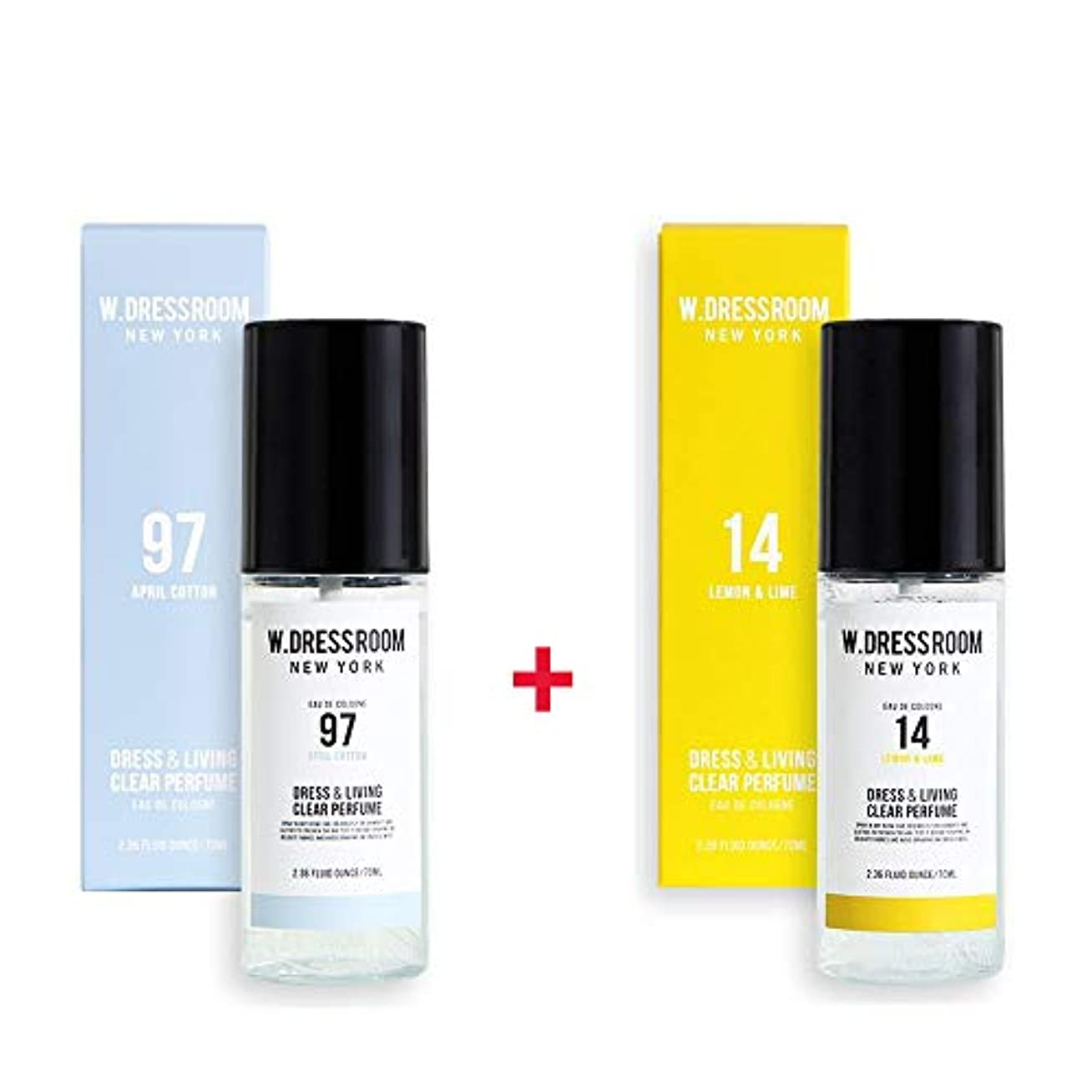 フェンス法王鋸歯状W.DRESSROOM Dress & Living Clear Perfume 70ml (No 97 April Cotton)+(No 14 Lemon & Lime)