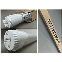 YT-SMD-60-10W×2 LED蛍光灯10W×2本組 工事不要 口金回転式 20W用 58cm LED蛍光灯 LED消費電力8.5W 定格消費電力10W以下 昼白色 クラス最高の1080ルーメン(実測)