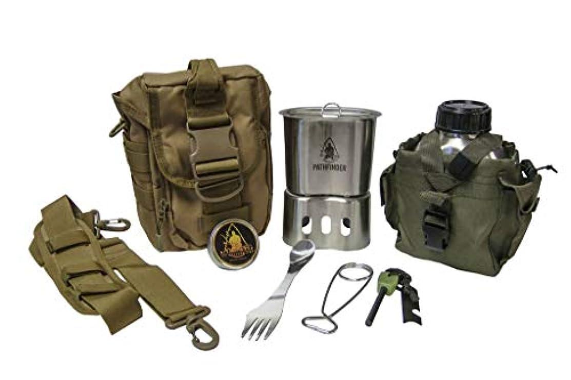 高度な無効カーペット(パスファインダー) PATHFINDER Campfire Survival Cooking Kit キャンプファイヤー サバイバル クッキング キット