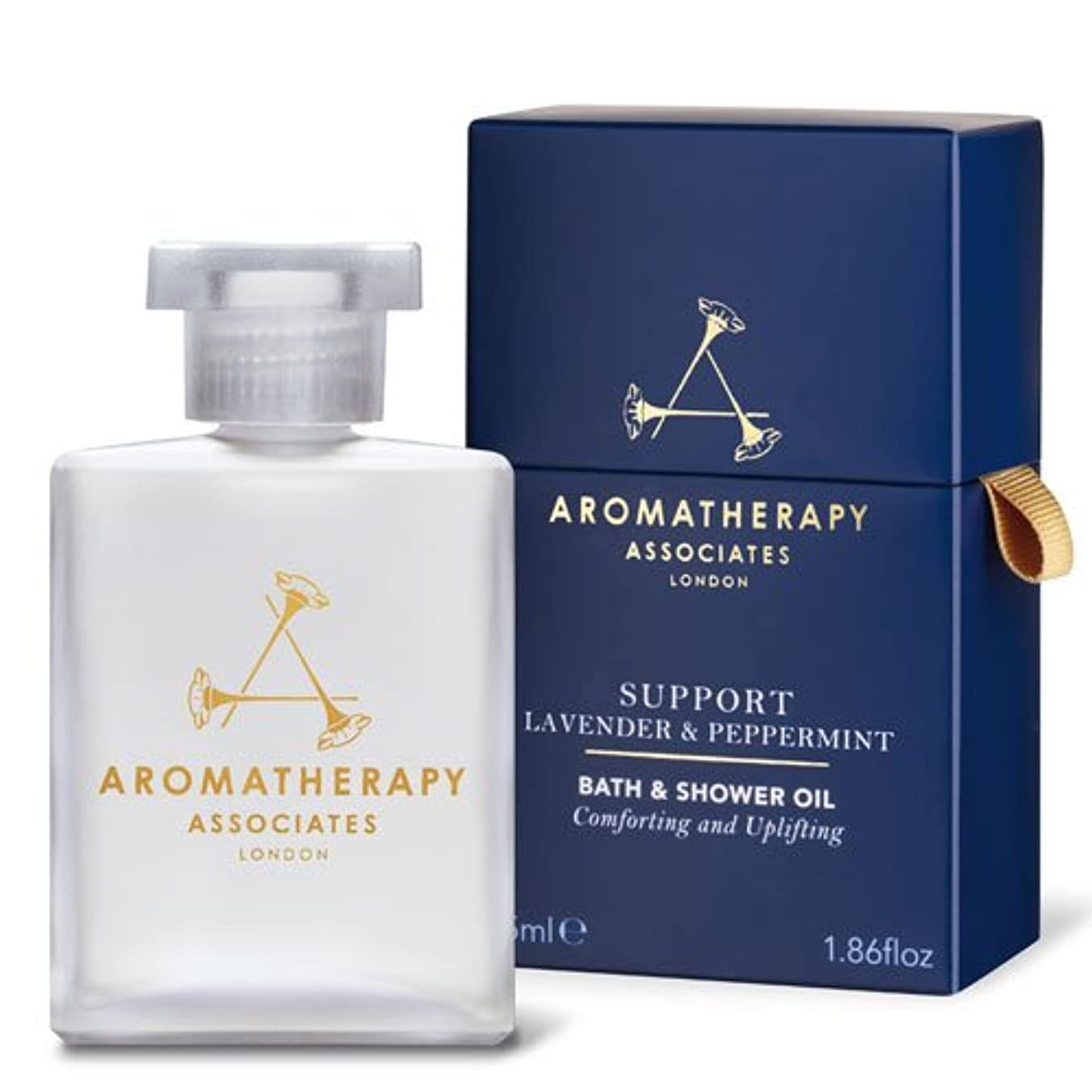 反毒飛行機影響力のあるアロマセラピー アソシエイツ Support - Lavender & Peppermint Bath & Shower Oil 55ml/1.86oz