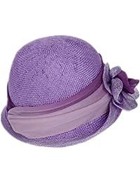春と夏 サイザル帽子麻糸花メッシュ帽子 レディース サマー ビーチ バケーションバイザー