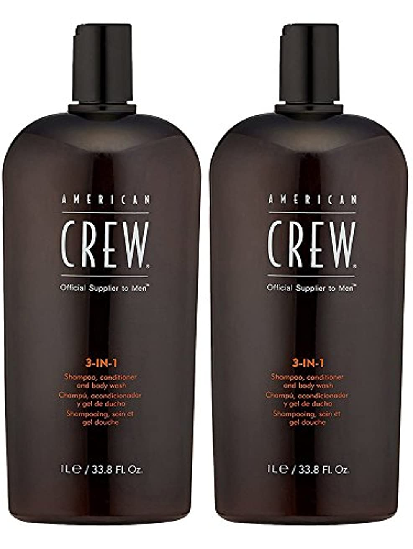 天気西部解説American Crew 3 in 1シャンプー&コンディショナー& Body Washシャンプー&コンディショナー& Body Wash for Men 2Pack (33.8 Ounce)