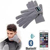 Deron Smart Bluetoothグローブ Bluetoothハンズフリー トーキンググローブ 冬 アウトドア スポーツ ランニング サイクリング ウォーマーグローブ グレー