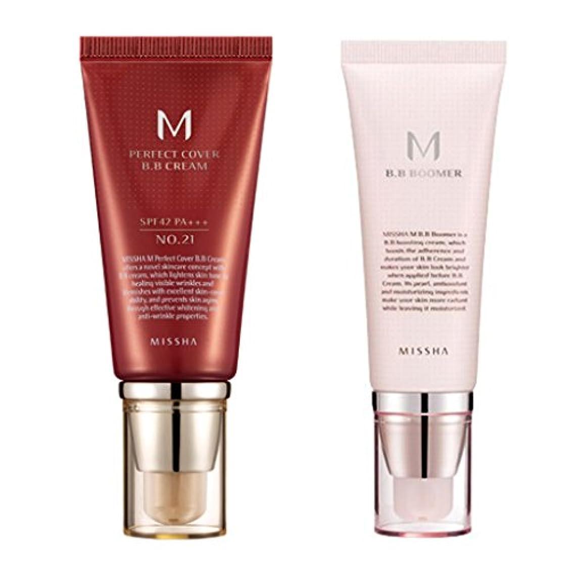 筋肉の石膏沿ってミシャ(MISSHA) M パーフェクトカバー BBクリーム 21号(ライトベージュ)+M BBブーマー