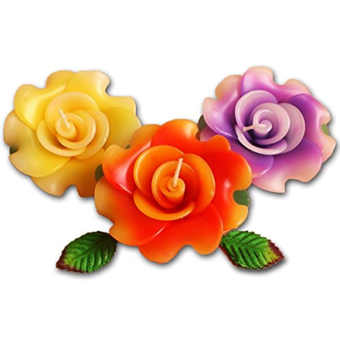 トーナメント地球慎重にフローティングキャンドル ローズ薔薇 12個入り アソート 香りつきアロマキャンドル 水に浮かぶ 退職ギフト 結婚式二次会プチギフト (12個入り)