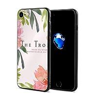 Any Share 英文字 花 葉 ピンク IPhone7/8 ケース スマホケース 落下防止 カバー リング付き 全面保護 携帯カバー 携帯ケース 超薄 超軽量 衝撃 おしゃれ 男女兼用