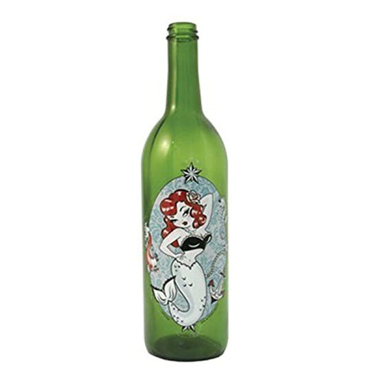 かなり一杯ゲームグリーンガラスIncense Smokingボトルwithマーメイドデザイン、Plus 10 SticksフリーオレンジIncense