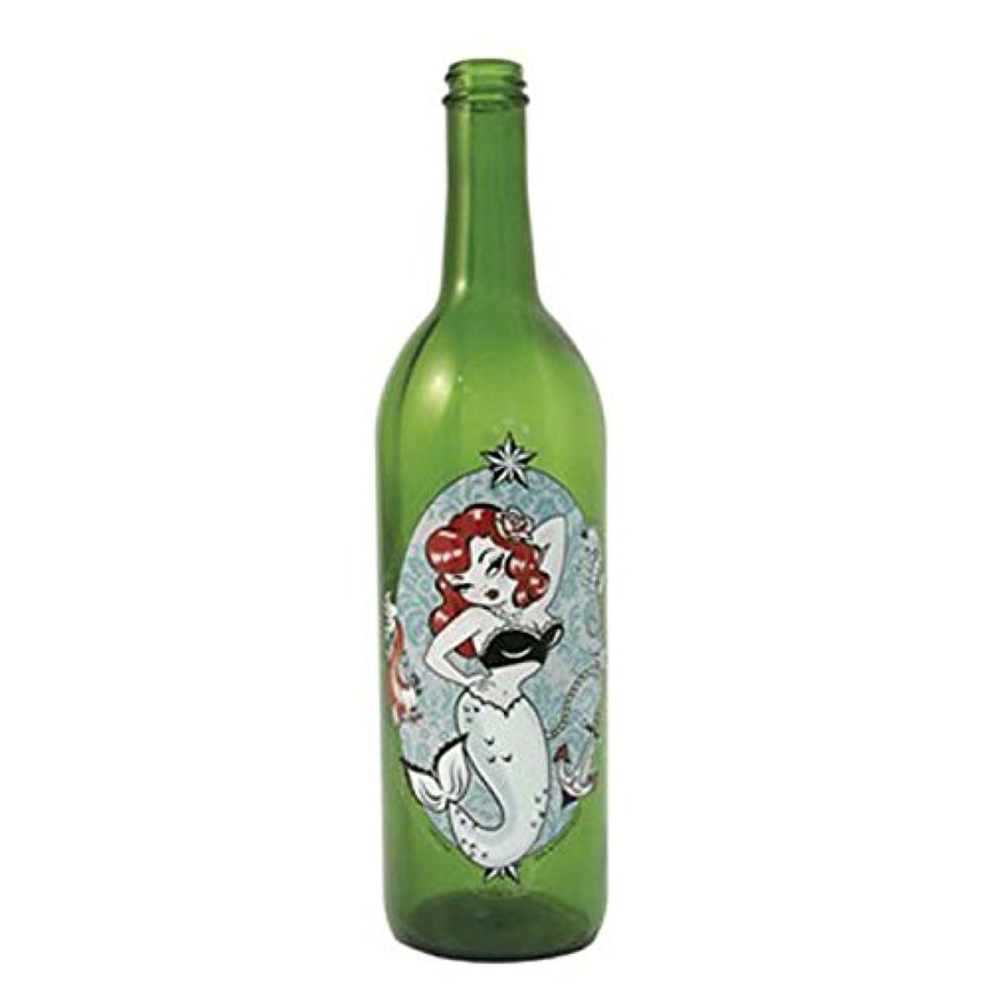 海外でに対処する窒息させるグリーンガラスIncense Smokingボトルwithマーメイドデザイン、Plus 10 SticksフリーオレンジIncense