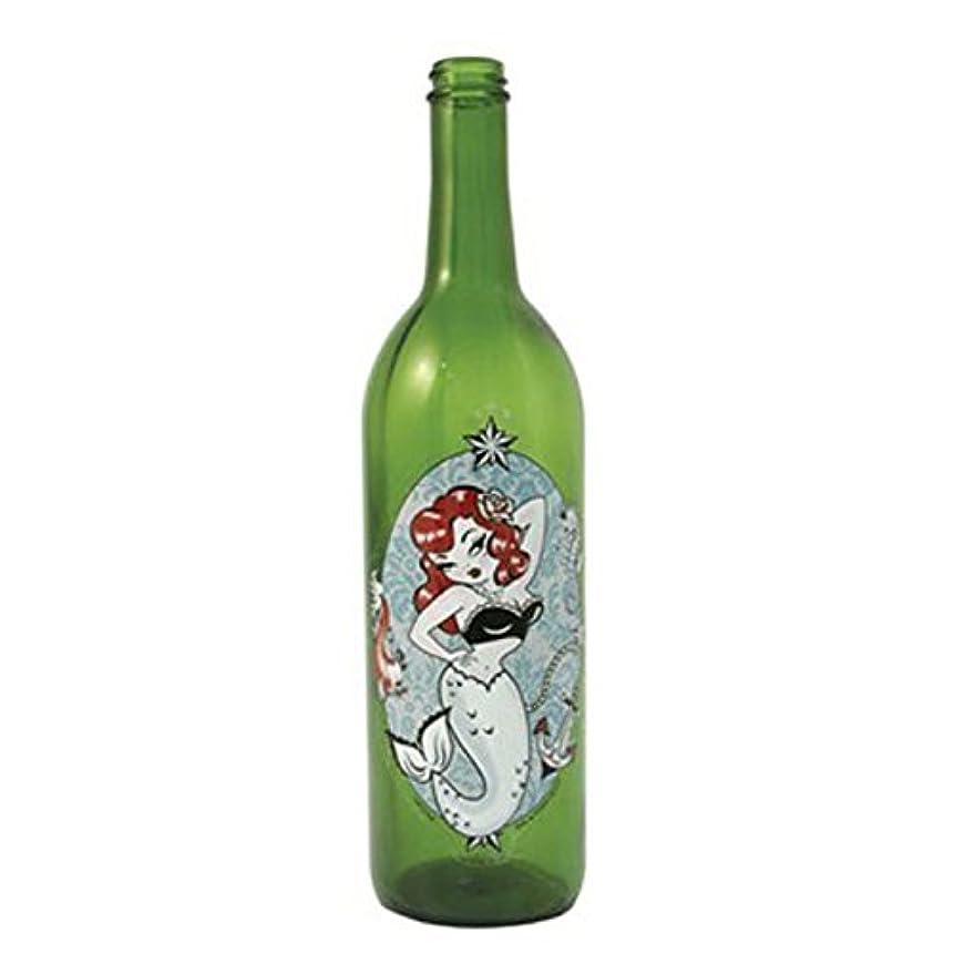 正確に分布側グリーンガラスIncense Smokingボトルwithマーメイドデザイン、Plus 10 SticksフリーオレンジIncense
