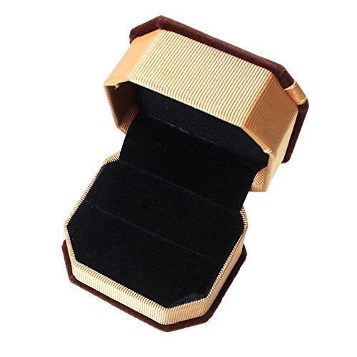 MJartoria リング イヤリング ブレスレット ネックレス ギフトボックス ジュエリー アクセサリー デイスプレ 収納 ケース  (蝶結び茶色)