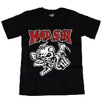 海外製品 (マッド・シン) MAD SiN スカル プリント 半袖 tシャツ XS S M L[T847]GTS/H1037