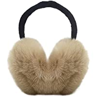 Womens Headband Winter Faux Fur Outdoor EarMuffs Warmers Adjustable Earwarmer