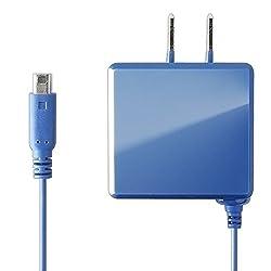 良値 IINE New 2DSLL New 2DS New3DSLL New3DS 3DSLL 3DS用 ACアダプタ 充電器 2.5m (ブルー)