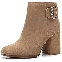 BalaMasa Womens Charms High-Heel Solid Urethane Boots ABM13534