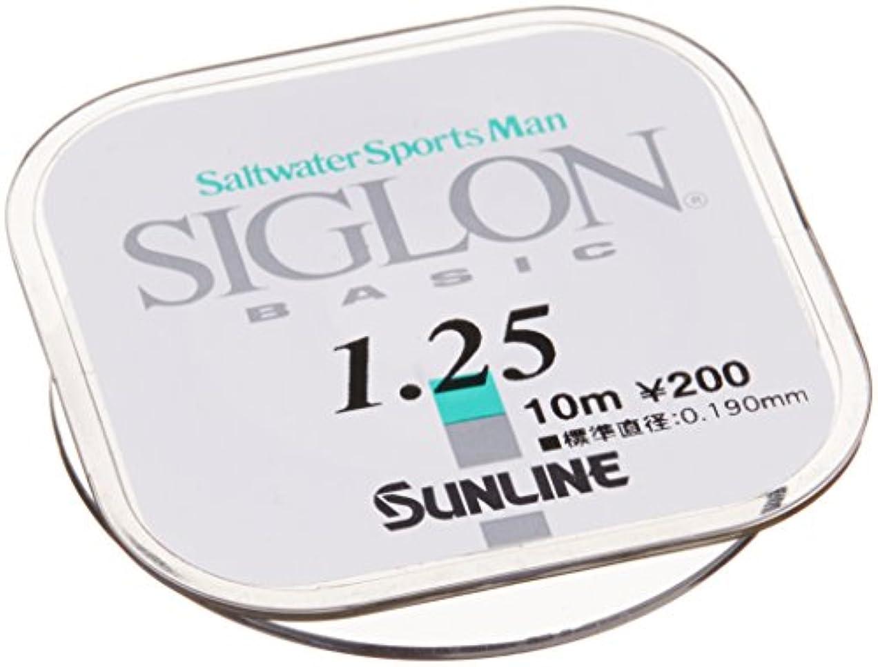 定義著者感謝祭サンライン(SUNLINE) ナイロンライン SIGLON ベーシック 10m 1.25号 ナチュラルクリア