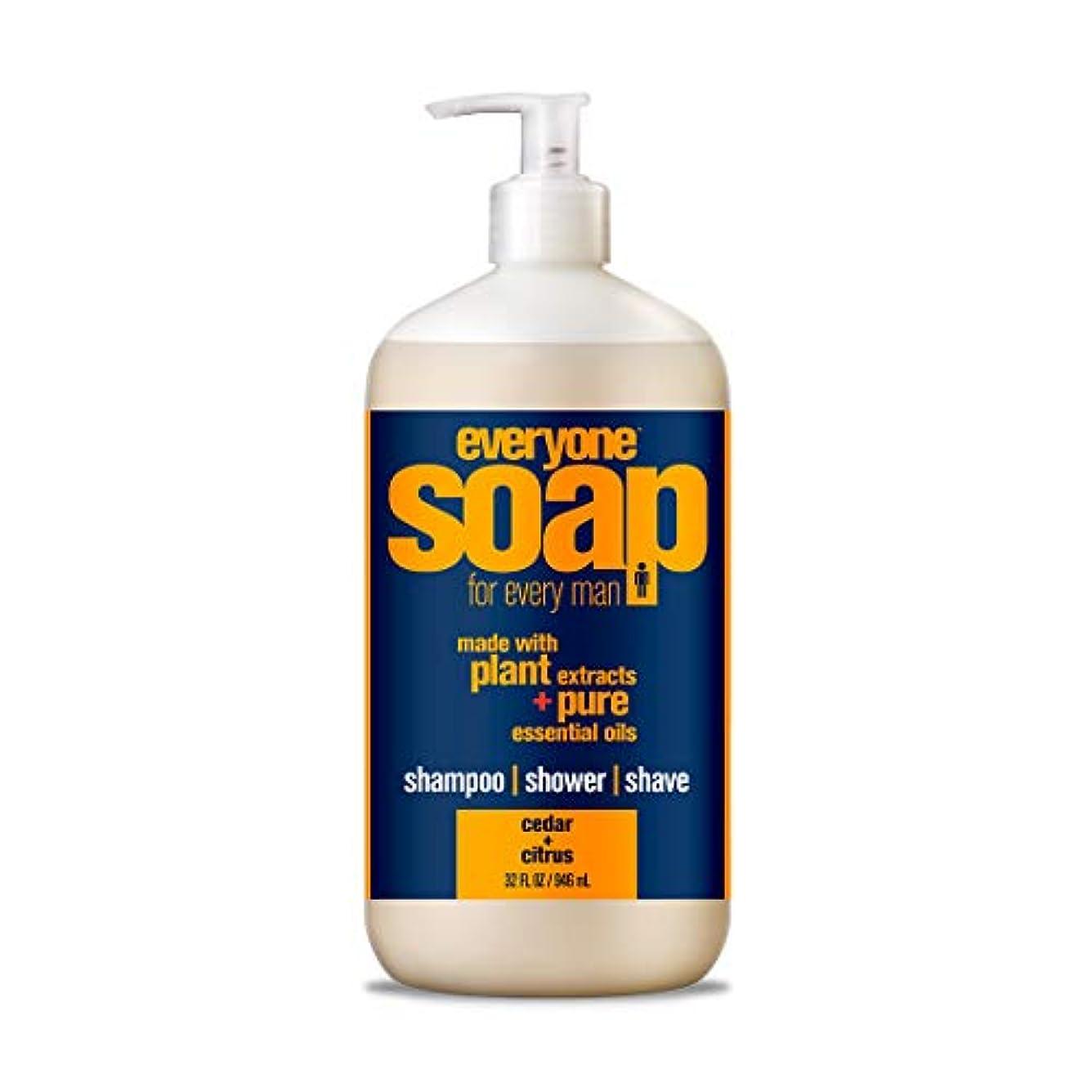 戦争依存ヒット(950ml - 1 Bottle, Citrus-Cedar) - Eo Products Everyone Soap For Men, Cedar And Citrus, 950ml