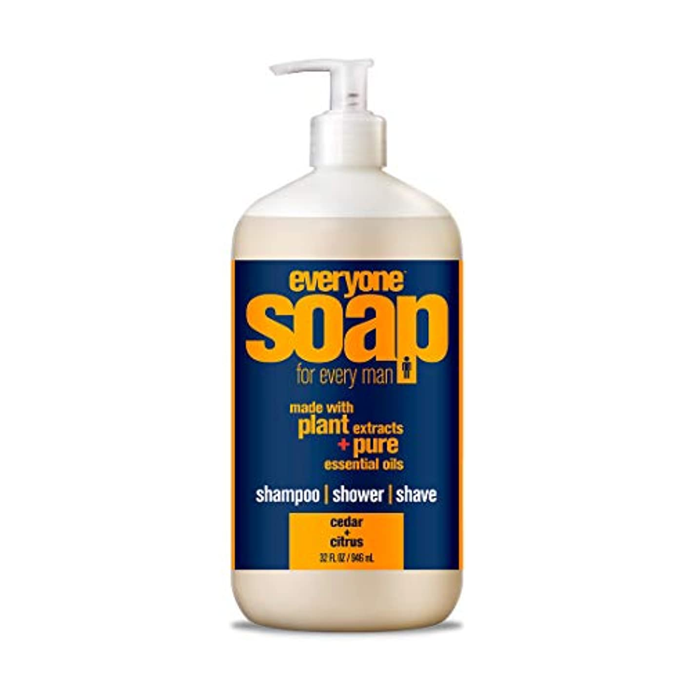 十一虐待信頼性のある(950ml - 1 Bottle, Citrus-Cedar) - Eo Products Everyone Soap For Men, Cedar And Citrus, 950ml