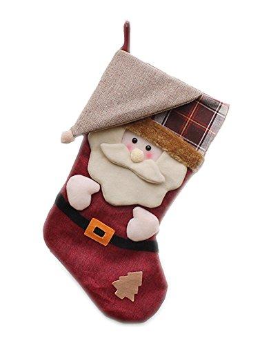 Honeystore クリスマス 靴下 ソックス サンタ 靴下 ギフト袋 大きい クリスマスツリー 飾り クリスマスオーナメント クリスマス袋 大きい サンタクロース