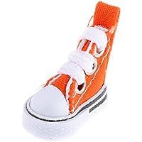 Baoblaze 1/6 バービー 人形用 ピュリップ 桃子 人形用 1ペア  オレンジ キャンバス 靴