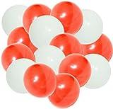 【お正月バルーン】 紅白 9インチ ゴム風船 レッド&ホワイト 2色各25個 (合計50個入り)