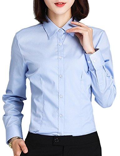 シャツ レディース 長袖 形状安定