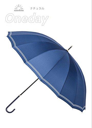 [해외]길이 우산 풍속 경량 발수 가공 점프 식 마린 스타일 청우 겸용 여성 슬림 인기 패션 직경 98cm * 82cm/Long umbrella wind resistant lightweight water repellent processing jump type Marine style combined with cloudy rainy women`s slim pop...